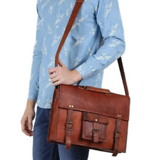 Men's VIP Real Leather Shoulder Messenger Bag Vintage Briefcase Laptop Satchel