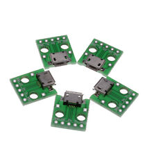 5X New Micro Female USB To DIP Adapter Converter For 2.54mm PCB Board Power