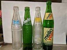 LOT OF 4 vintage bottles. 3/10 oz & 1/16 oz. Tab, Sprite, Fanta and Mello Yello.
