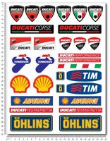 Ducati Corse motorcycle decals stickers set shell shell tim termignoni sponsor