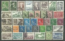 OLDER FINLAND - 38 used stamps from the early 1900's