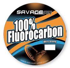 Savage Gear 100/% Fluorcarbon Line Weich Fischen Anführer Zander See Barsch Spiel