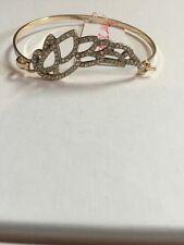 $45 Betsey Johnson HEAVEN SENT WING HEART Cuff Bracelet  #A134*