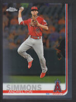 Topps - Chrome 2019 - # 4 Andrelton Simmons - Los Angeles Angels