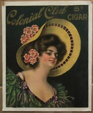 Colonial Club Cigars Vintage  POSTER 17 1/2  X 21 1/2 ** 20%  OFF ***