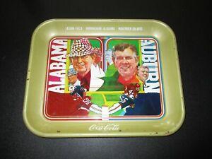 Auburn Alabama Coca-Cola football tray Bear Bryant Shug Jordan - Gadsden 00081