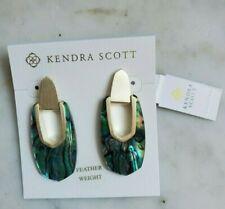Kendra Scott Gold 454 Kailyn Drop Statement Earrings Abalone Shell