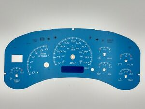 Blue Gauge Face Overlay for 1999-2002 Silverado Sierra & GM Instrument Clusters