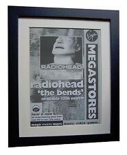 RADIOHEAD+The Bends+POSTER+AD+RARE+ORIGINAL+1995+FRAMED+EXPRESS GLOBAL SHIP