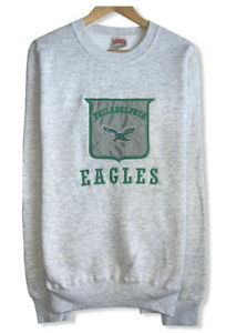 Vtg Philadelphia Eagles 90's NFL Men's Sz Large Nutmeg Patch Logo Sweatshirt USA
