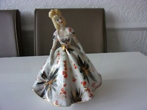 """BEAUTIFUL  PORCELAIN LADY FIGURINE.  MADE IN ITALY. APPROX 8"""" TALL. LOVELY LOT.."""