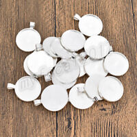 20 Pcs 25mm Round Pendant Cabochon Base Setting Tray Blank for Demo Cabochon