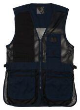Browning Trapper Creek Mesh Shooting Vest Black Navy Men's Medium 3050269502