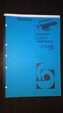 Bang & Olufsen Service Manual Beogram CD 50 Typ 5111 12 13 14 15 Terminal 5005
