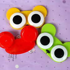 Hot Cute 3D Big Eye Owl Frog Animal Shape Contact Lens Case Holder Soak Storage