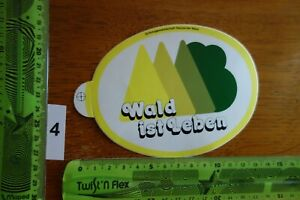 Alter Aufkleber Umweltschutz SCHUTZGEMEINSCHAFT D. WALD Wald ist Leben