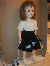 """American Character Sweet Sue 18"""" Hard Plastic Walker w/poodle skirt and poodle"""