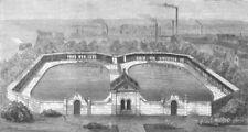 DERBYS. Swimming-Baths in Derby, antique print, 1873