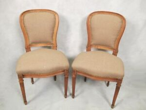 Pair of French Louis XVI style chairs # D7796