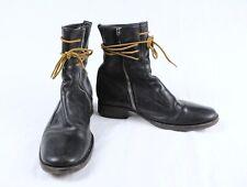 DIOR Homme Mens Black Leather Combat Boots EU 40 US 7 Hedi Slimane Era