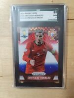 2014 Panini Prizm World Cup Blue Red Wave Cristiano Ronaldo 161 SGC 9.8 10 prizm