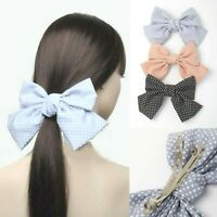 Cream Floral Lace Bow Hair Barrette Clips Slides Hair Accessories UK Clips