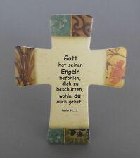"""Wandkreuz zum Hängen od. Stellen """"Gott hat seinen """" 14,5 x 12 cm Keramik NI 2542"""