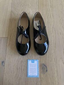 Elephantito Genuine Leather 3611 Sabrina Patent Black Size 1 Girls Shoes Peru