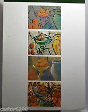 TECHNIQUE MIXTE nature morte aux fruits (2) fin XXè 65x50 cm sign ROESCH