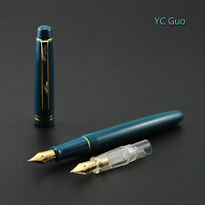 2016 Fresh Model Wing Sung 659 Teal Fountain Pen With 2 Nibs With Plastic Box