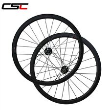 disc brake 38mm tubular carbon wheels with disc road thru axle hub 12mmx100