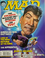 MAD Magazine April 2004 American Idol - LoTR - Joan of Arcadia - No Label VG
