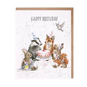 Wrendale Designs Greeting Card Woodland Party - Animal Happy Birthday Card