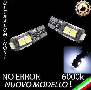 COPPIA LUCI DI POSIZIONE 9 LED CANBUS T10 W5W 6000K NO ERROR ULTRALUMINOSI