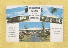 FL Miami 1950-60s vintage postcard COVENANT PALMS NW 27TH AVE Florida