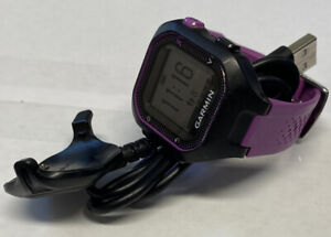 Women's Garmin Forerunner 25 GPS Running Watch  With Charger Purple And Black