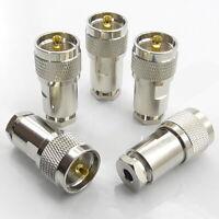 5x PL259 Plug Male Clamp Type Compression Connector RG58 RG223 LMR195 URM76 UHF