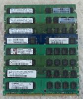 SET OF 8 RAM MODULES MEMORY DDR2 667MHz 800MHz 8GB TOTAL FULLY TESTED
