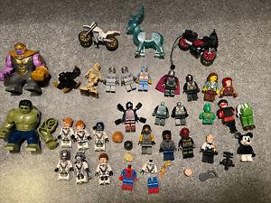 LEGO MARVEL Super Heroes Minifigure Lot: Hulk Thanos