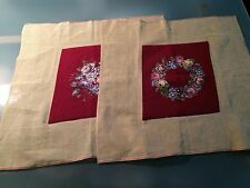 2 Needle Petit Point Seat Covers Embroidered Embroidery Crochet diamond shape
