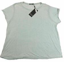 1X Plus Women's Point Zero Curvy Slub Tee Shirt Cap Sleeve Mint NEW