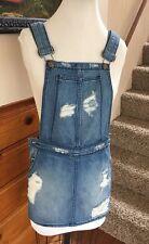 Nwt $178 CARMAR denim Jean overall Dress Sz XS destroyed LF Stores Skirt