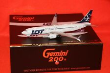 GEMINI JETS GJ2-707 LOT BOEING 7378 MAX reg SP-LVA 1-200 SCALE WITH STAND
