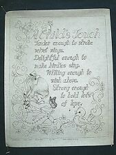New listing Tri-chem Artex A Child's Touch w Girl Bird Motto 4111 Picture paint 16X20