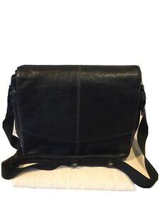 GINO FERRARI Black LEATHER Laptop Bag