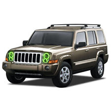 for Jeep Commander 06-10 Green LED Halo kit for Headlights