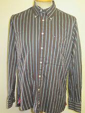 "Genuine Tommy Hilfiger Striped Shirt - M 38-40"" Euro 48-50 - Brown/Grey/Blue"