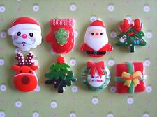 8 x Mixed Christmas Flatback Resin Embellishment Crafts Cabochon UK