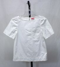 Kate Spade New York White Cotton Short Sleeves Top Size XXS