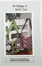 """Quilt Pattern Purse Handbag Uptown Girl 16"""" x 9.5"""" All My Bags & Quilts Too 141"""